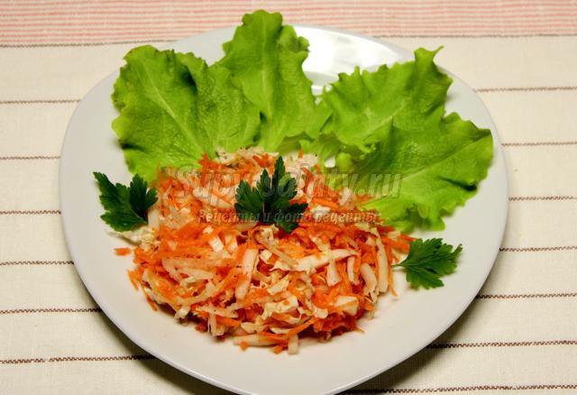 витаминный салат из зимних овощей