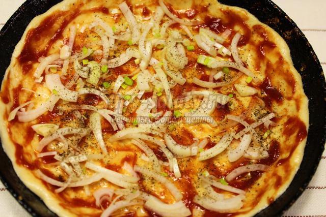 пицца с курицей и картофелем рецепт
