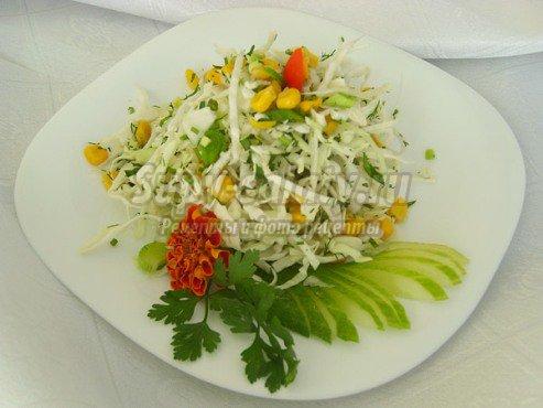 Как приготовить салат из капусты диетический?