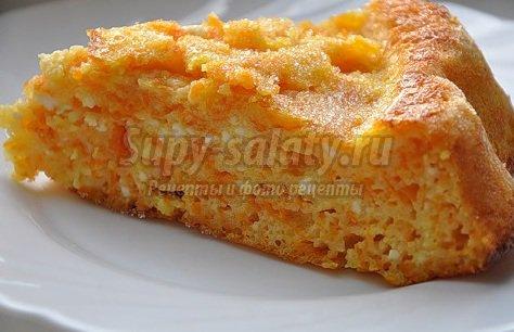 Творожная запеканка с морковью рецепт с фото