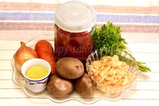 Рецепты щей из квашеной капусты с пшеном