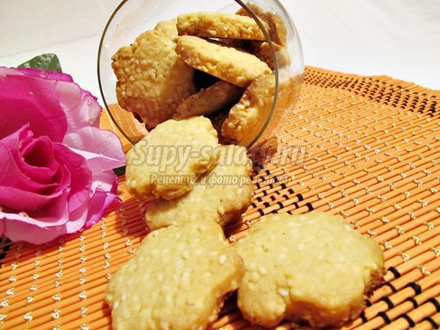 Хрустящее кунжутное печенье рецепт пошагово