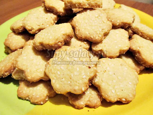 Печенье с кунжутом рецепт пошагово