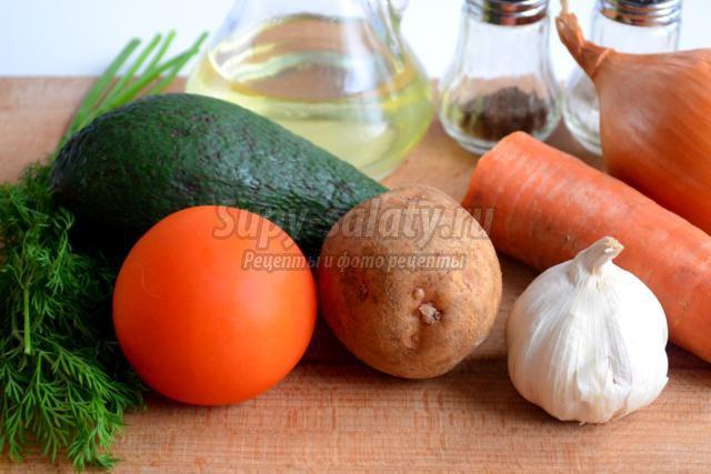 Суп из авокадо с йогуртом и базиликом, пошаговый рецепт с фото