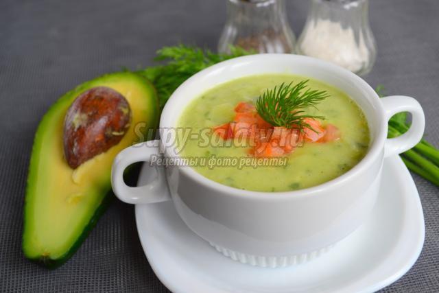 крем-суп с авокадо