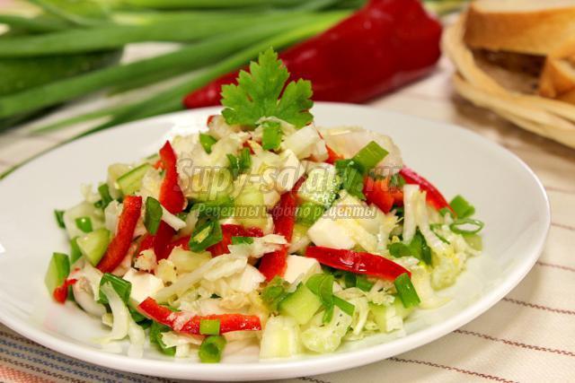 Салат к рыбному блюду рецепт с