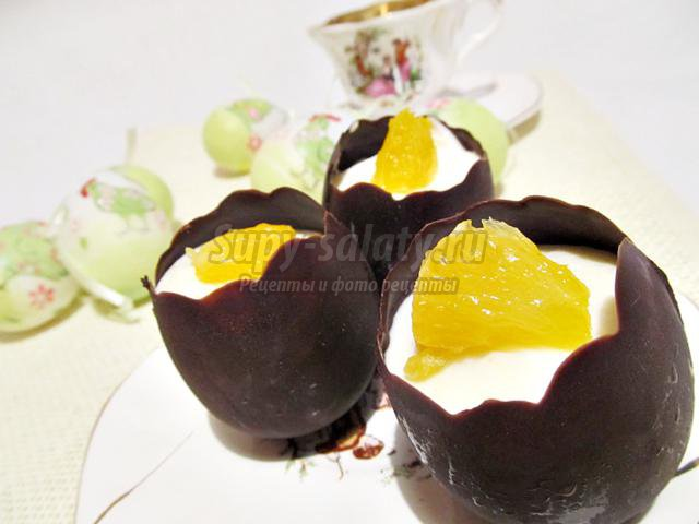 шоколадное яйцо с желе