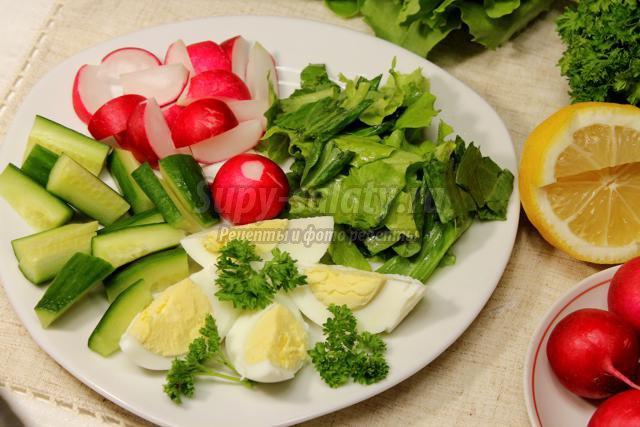 французский салат для похудения