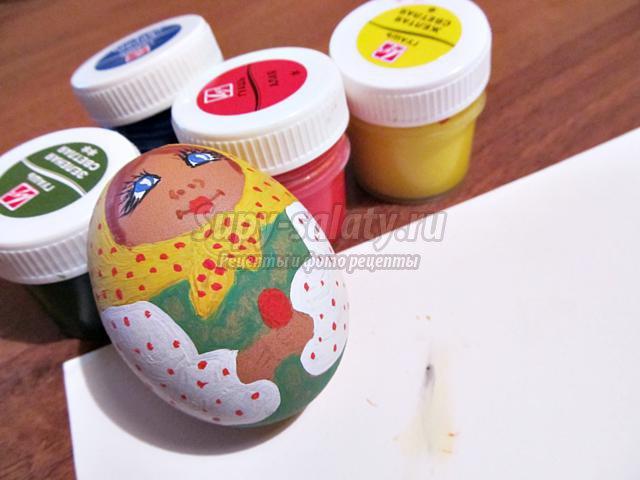 Пасхальное яйцо Матрешка