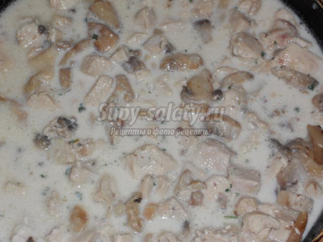 жульен из курицы с грибами
