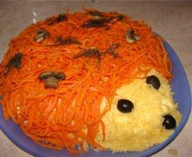 Салат фиалка пошаговый рецепт с фото и видео