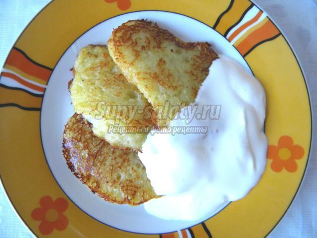 Деруны картофельные рецепт пошаговый с фото