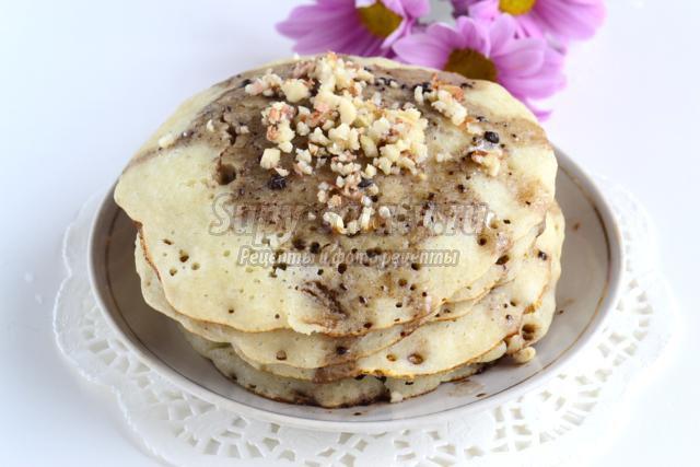 блинчики с шоколадным соусом по-мароккански