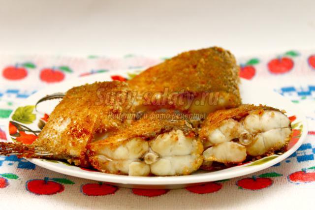 Филе рыбы в сухарях рецепт с фото