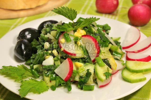 французский салат из крапивы