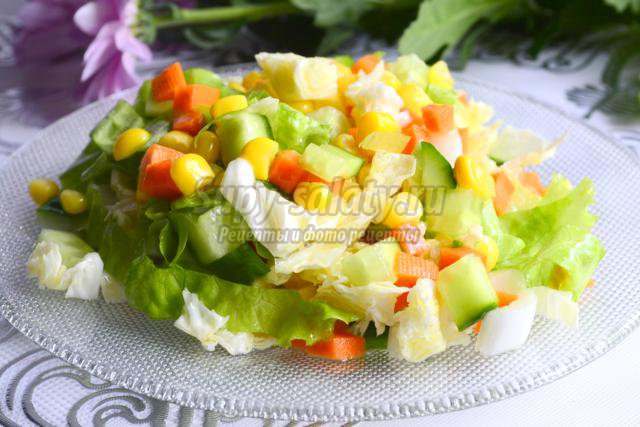 Салаты из пекинской капусты овощной