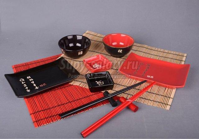 Какой должна быть посуда для суши