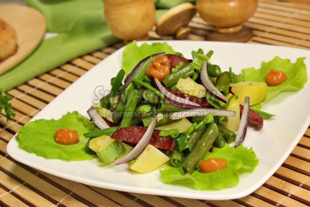 Салат из сердца и шампиньонов рецепт 2