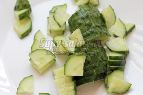 Салат из овощей с растительным маслом