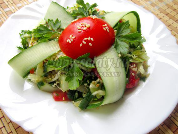 Овощной салат Подарок лета