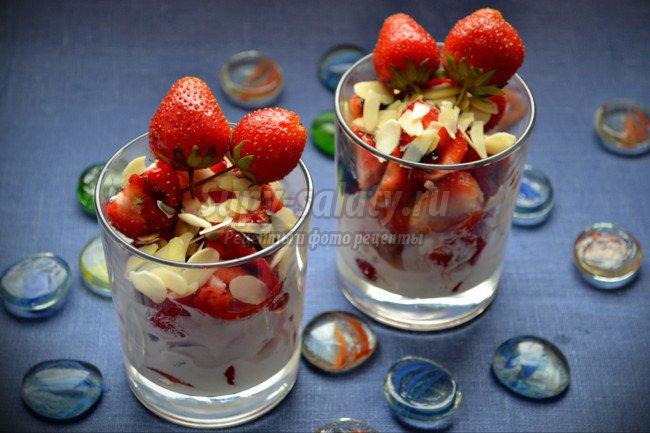 Клубничный десерт с бальзамическим уксусом