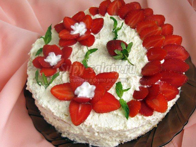 Вишневый торт с пошаговыми