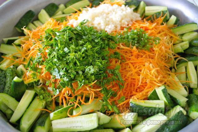 Заготовка Салат из огурцов по-корейски