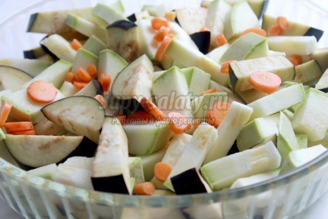 Овощи, запеченные в духовке
