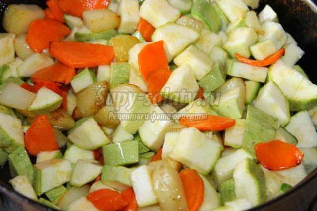 Рагу из овощей с горохом