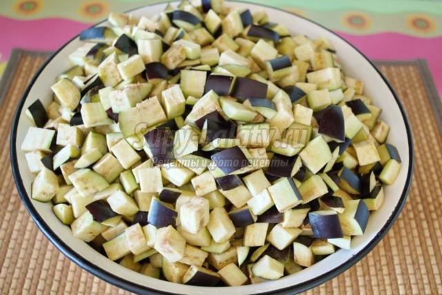 Заготовка Салат из баклажан
