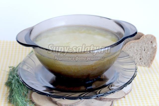 Суп с кабачками и рисом