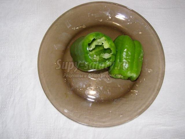 фаршированные овощи. Кабачки и перец