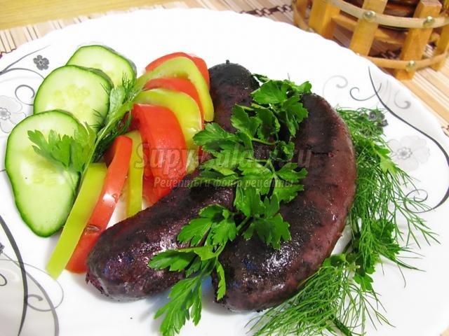 Рецепт кровяной колбасы с рисом в домашних условиях