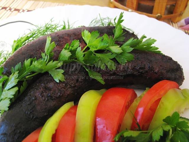 домашняя кровяная колбаса с рисом