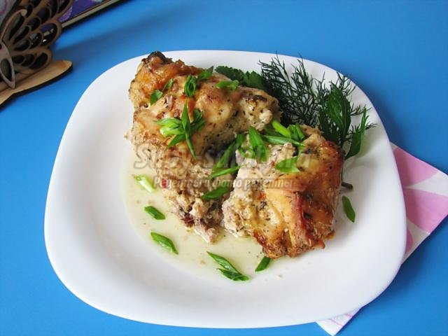 рубленая курица, запеченная в духовке