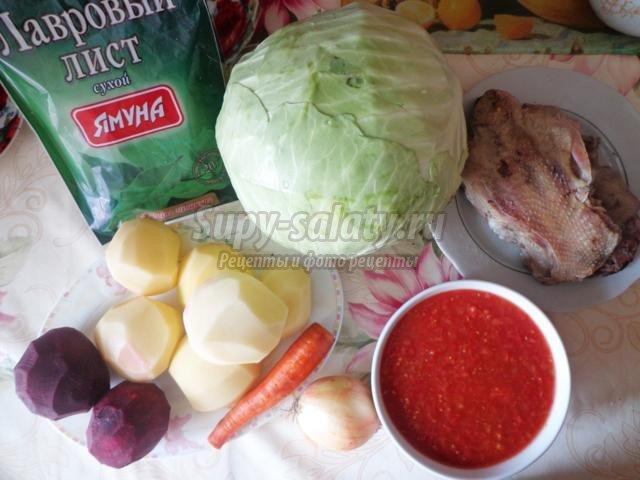 Борщ на курином бульоне с отварной свеклой рецепт с фото ...
