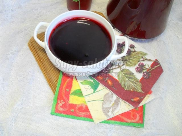 варенье-желе и кисель из малины и черной смородины