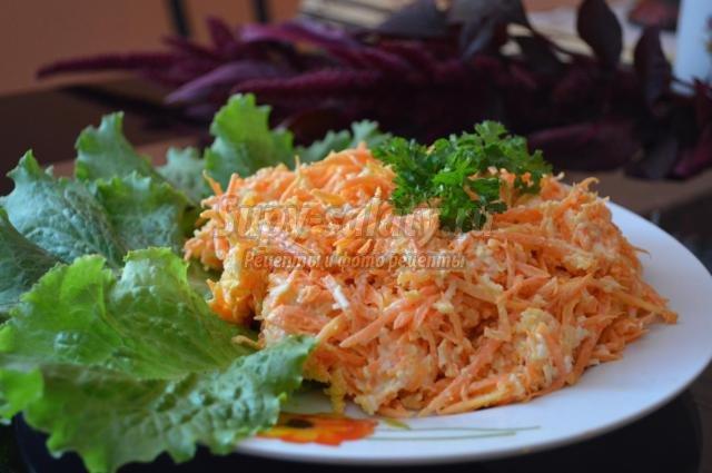салат из моркови с плавленым сырком