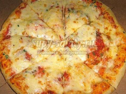 Пицца на молоке: быстрый и простой рецепт