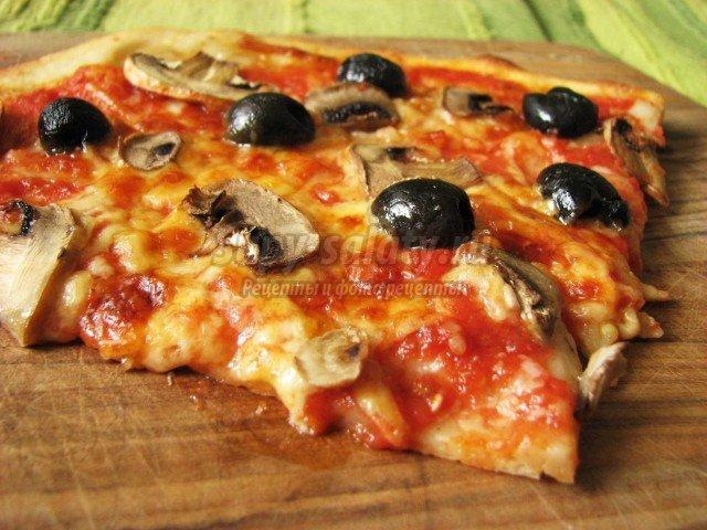 Отличный рецепт пиццы с помидорами