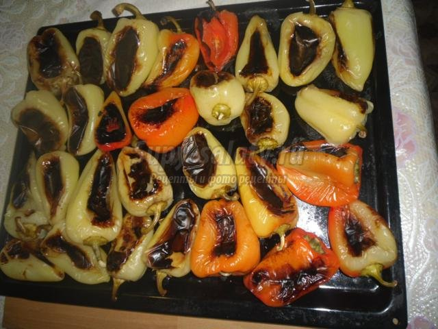 острая закуска. Маринованный болгарский перец