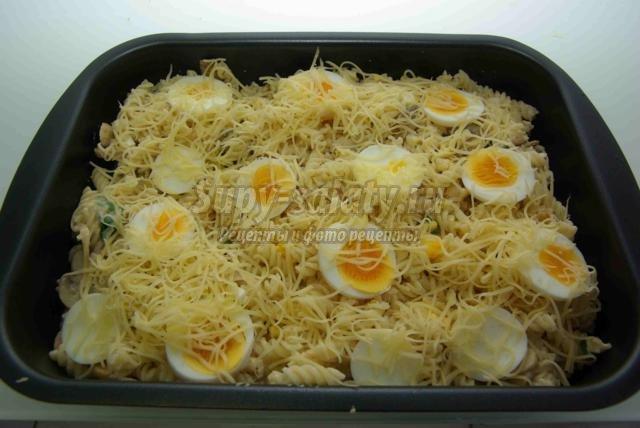 лапшевик с грибами и яйцом