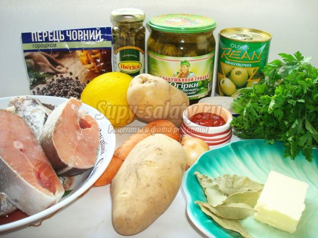 Сборная рыбная солянка, пошаговый рецепт с фото