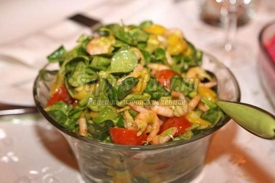 Салат креветки с манго рецепт с