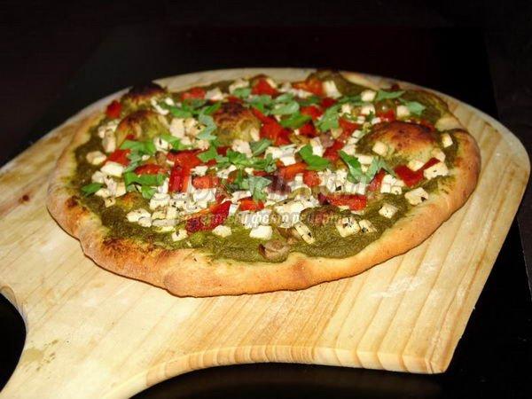 Вегетарианская пицца без сыра