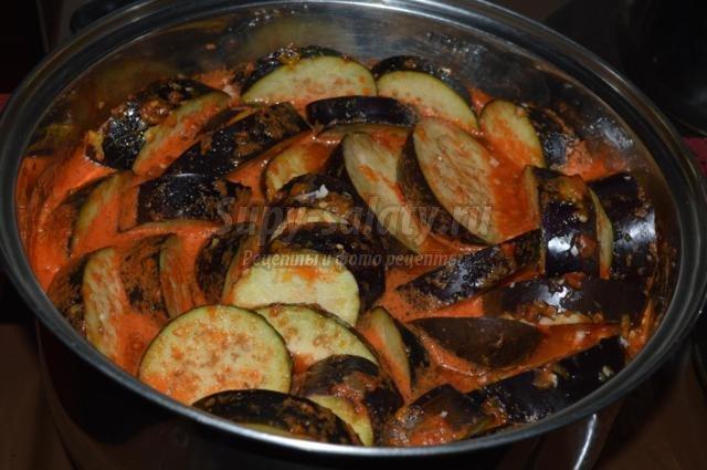 баклажаны в томатном соку на зиму