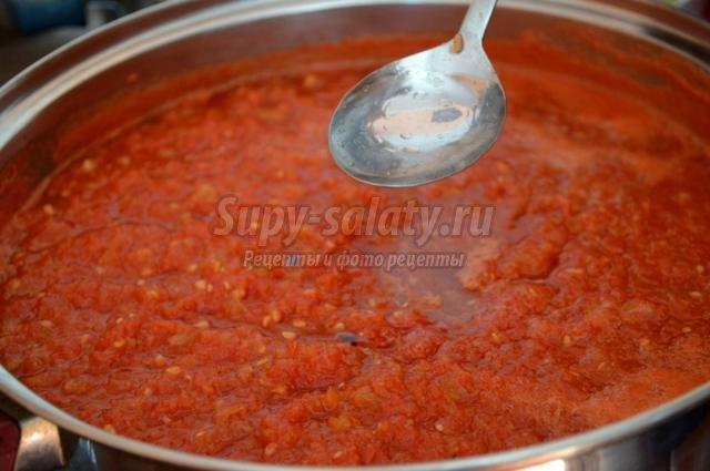 перец в томатном соку на зиму