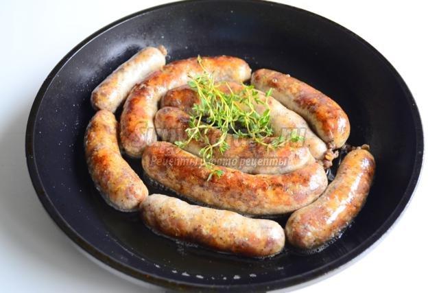 домашняя свиная колбаса