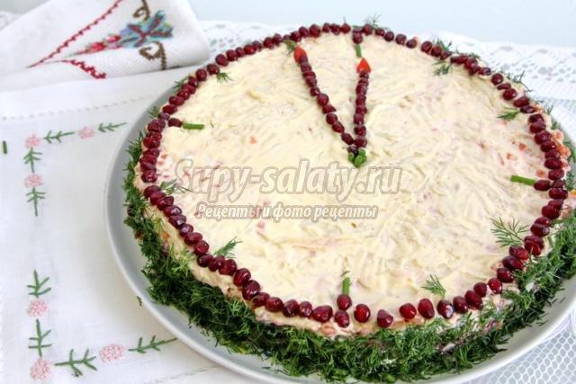 новогодний салат-торт. Пять минут