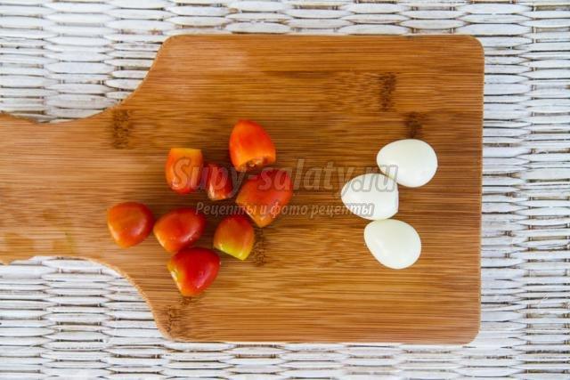 закуска с куриными сердечками